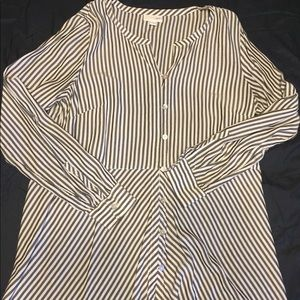 Striped Lightweight Material Tunic